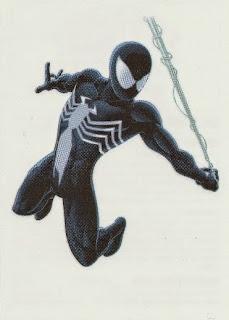 Black Spider from vending machine Ultimate Spider-Man Tattoos set