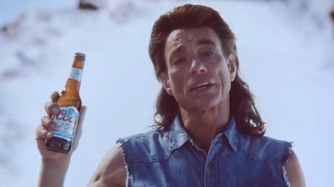 Jean-Claude Van Damne dans la publicité de la bière Coors Light