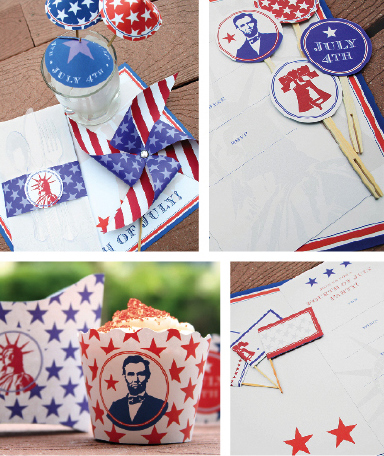 Paper & Cake 4th of July party idea
