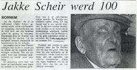"""Jan De Wachter """"Jakke Scheir"""" 1888-1990"""