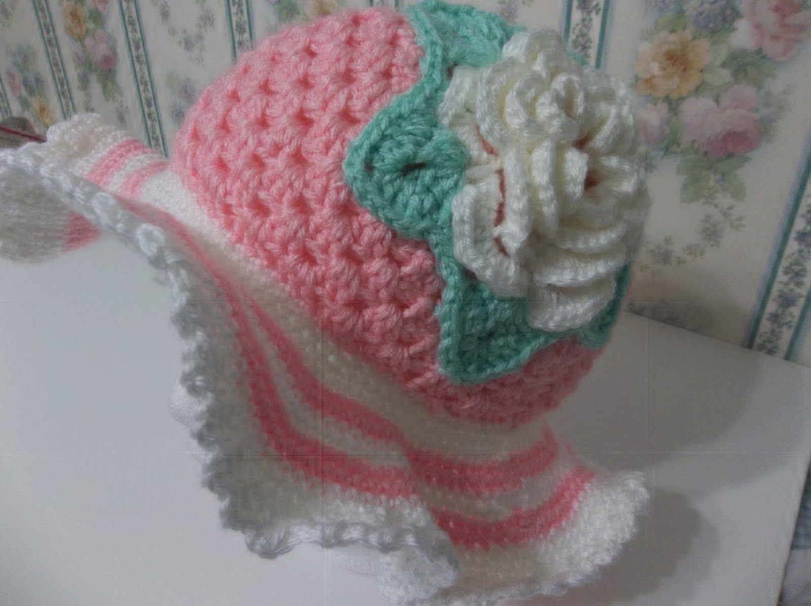 Free Crochet Pattern For Easter Bonnet : Creating Beautiful Things in Life: Easy Crochet Spring ...