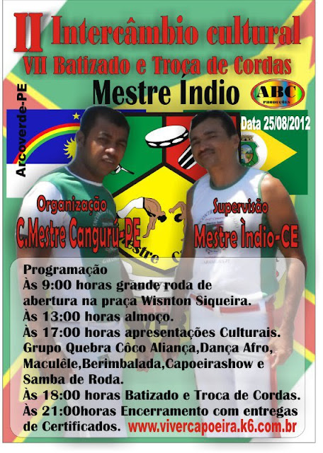 INTERCÂMBIO DE CAPOEIRA EM ARCOVERDE