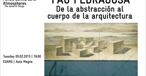 Arte y arquitectura art and architecture pau pedragosa - Escuela de arquitectura de barcelona ...