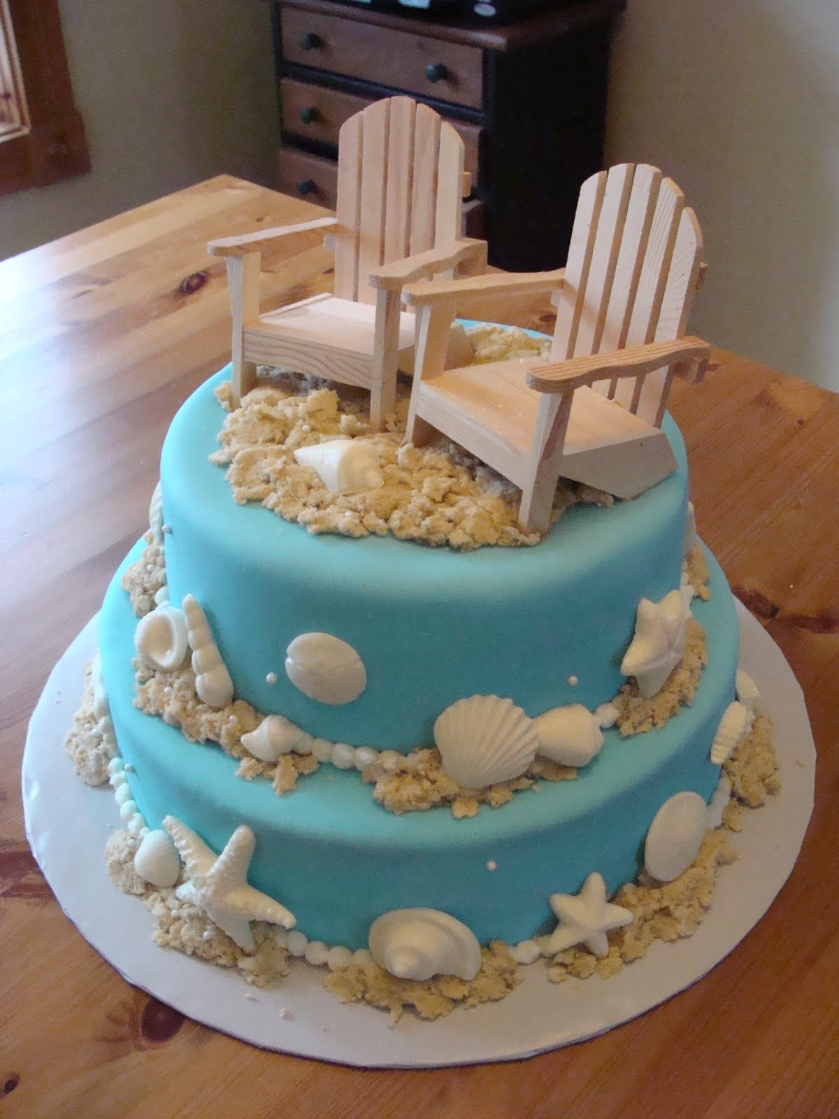 Beach Themed Cakes On Pinterest