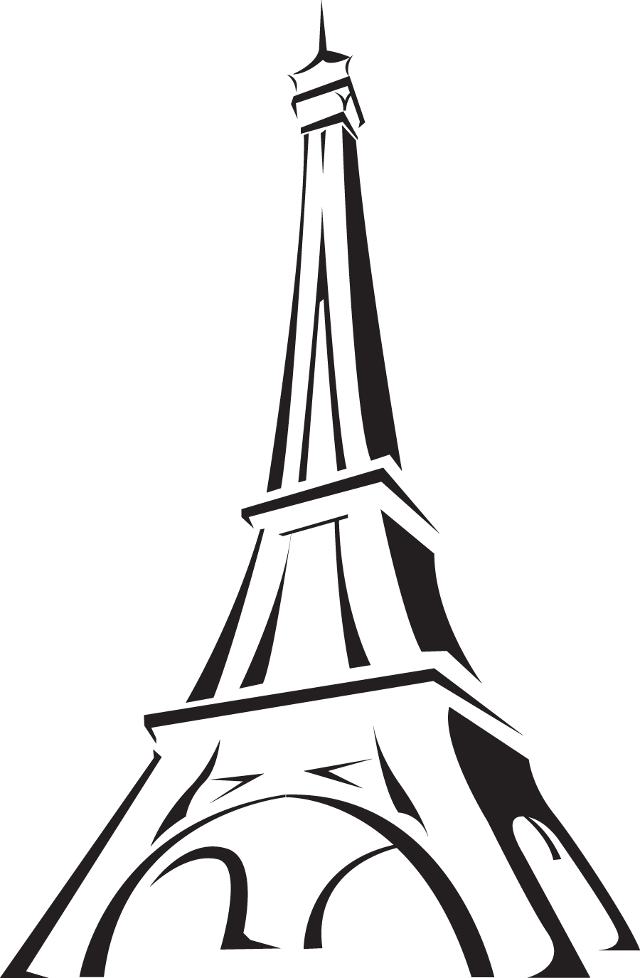 Line Drawing Eiffel Tower : Paris eiffel tower cartoon