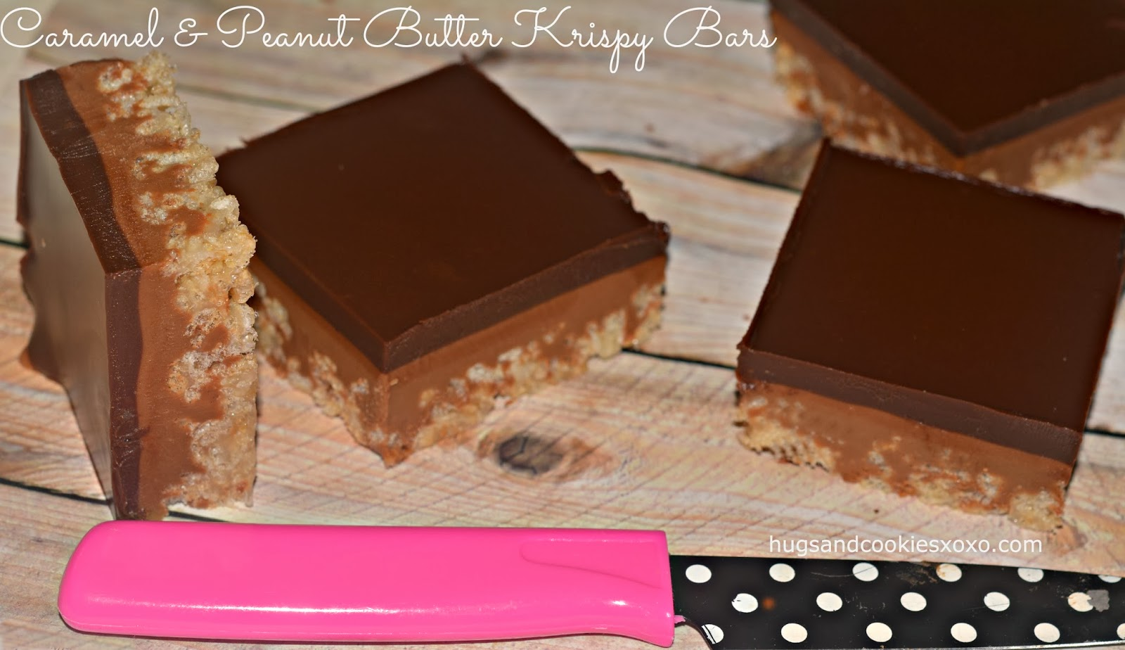 Caramel Peanut Butter Krispy Bars Topped With The Best Chocolate Kripiss Medan Karamel Rice A Thick Glaze I Am Sure You Can Imagine How Delicious These Are And Youd Be Right