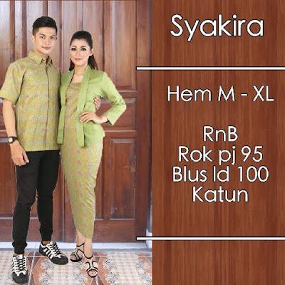 Baju Batik Pasangan (Sarimbit) Syakira Hijau