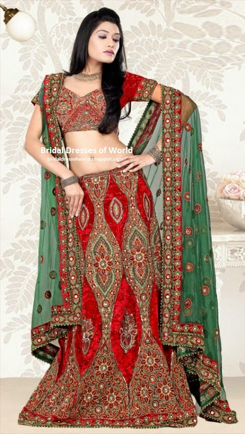 Bridal dresses of world bangladeshi 2014 fashion bridal for Indian women wedding dress