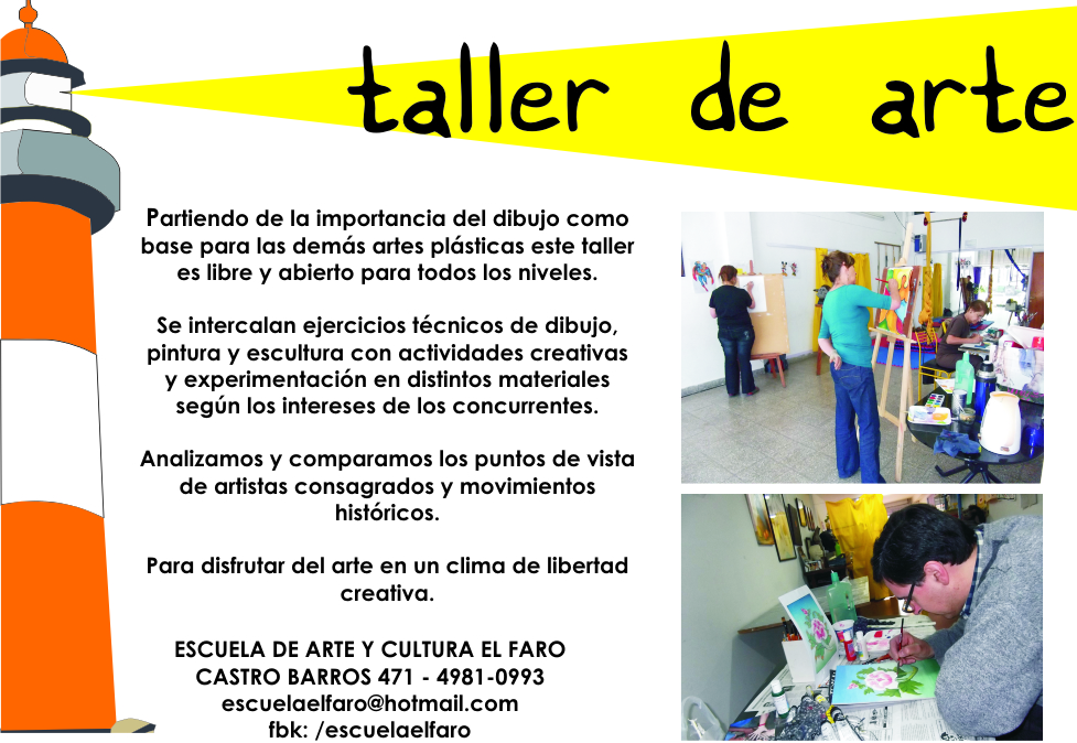 Escuela de arte y cultura el faro taller de arte para adultos - Talleres manualidades para adultos ...