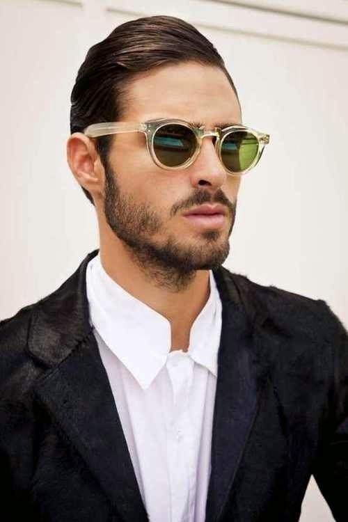 clear frame sunglasses edgy collared shirt mens fashion details accessories