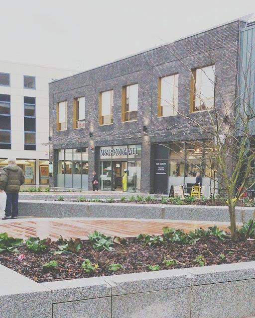 Marks & Spencer food hall Friars Walk Newport December 2015