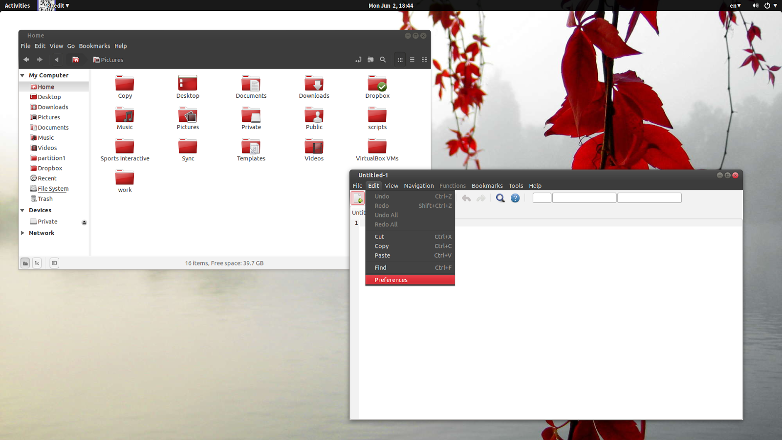 Google themes ubuntu 14.04 - Ambiance Red Under Gnome Shell Kkedit A Gtk2 App Uses Dark Menus With The Default Ambiance Theme The App Uses A Light Menu