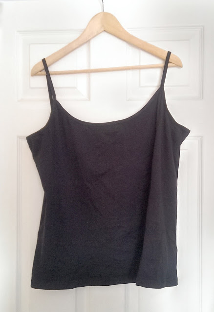A plain black cami