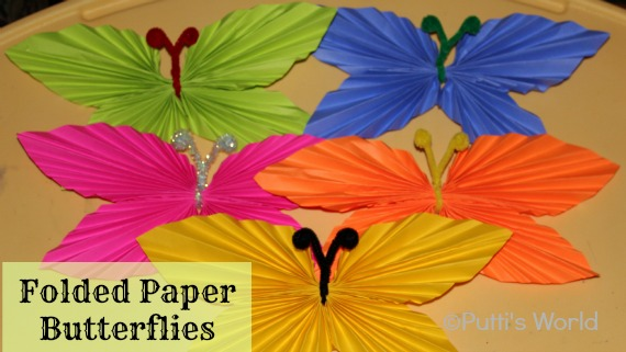 Folded Paper Butterflies origami
