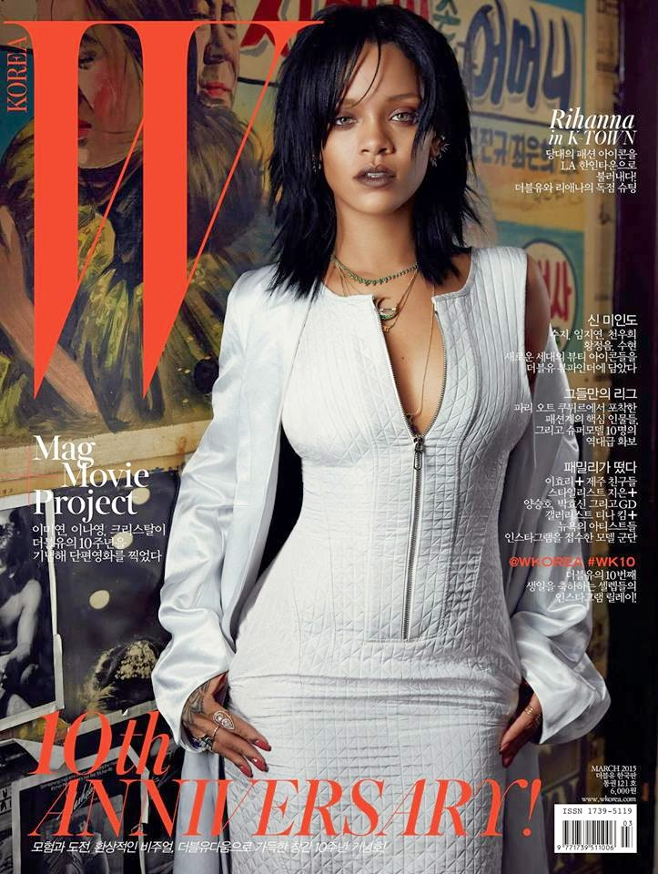 Singer, Actress, Fashion Designer: Rihanna by Dennis Leupold for W Korea