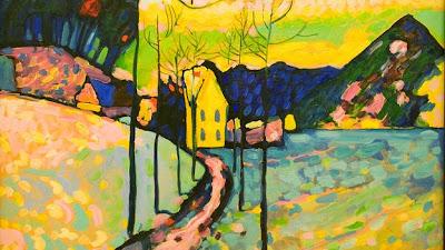 Vassily Kandinski - Paysage d'hiver,1911.