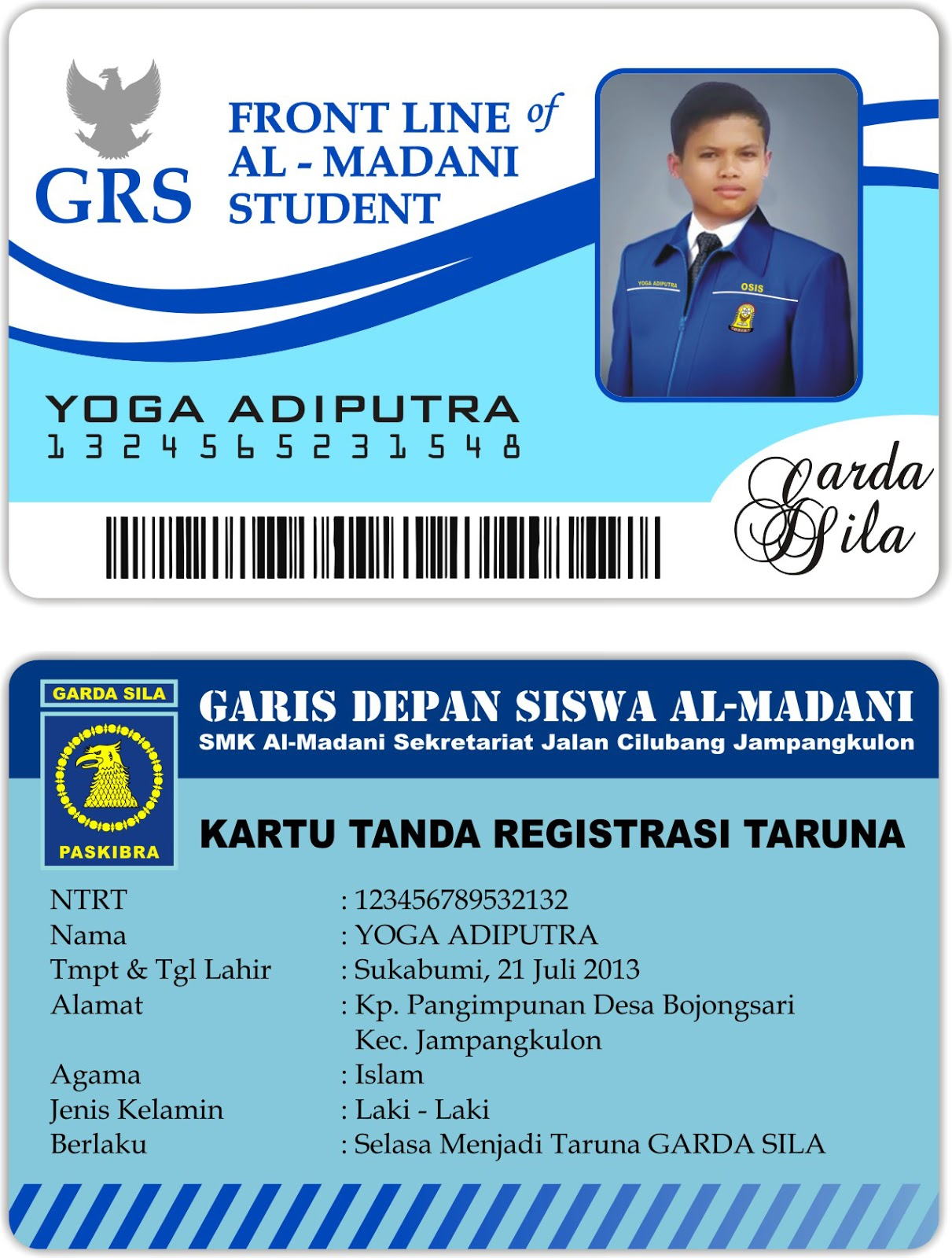 download contoh id card format coreldraw x4