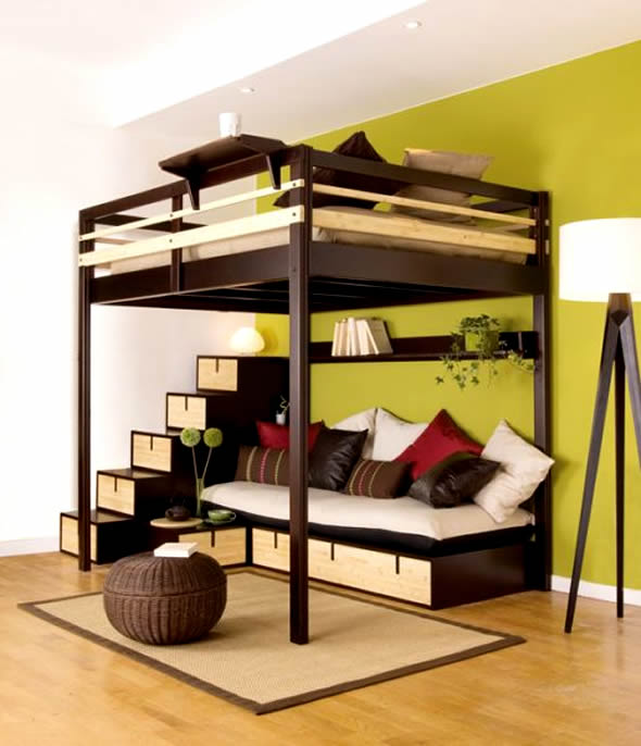 Small Bedroom Idea Loft Bed