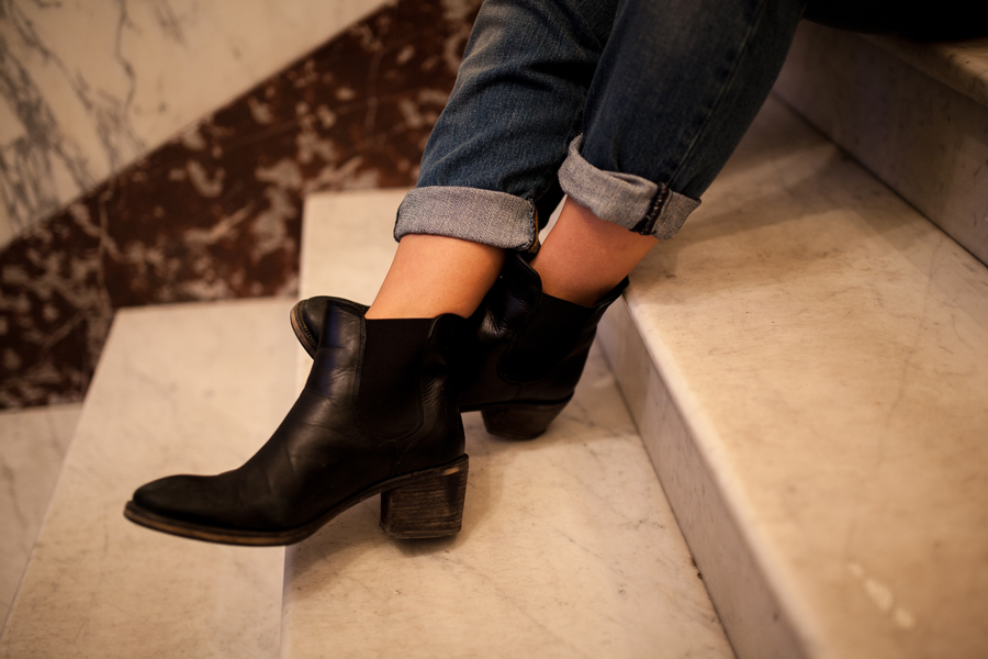 black ankle boots schuhe