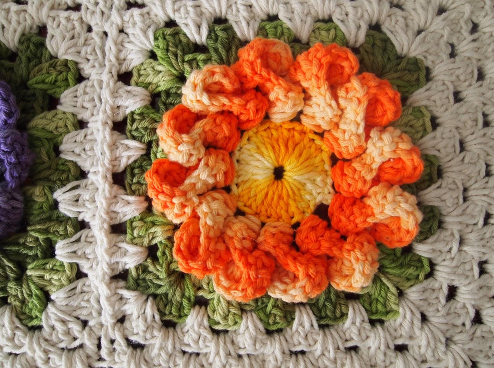 os croches da elsa tapete   flor d lia