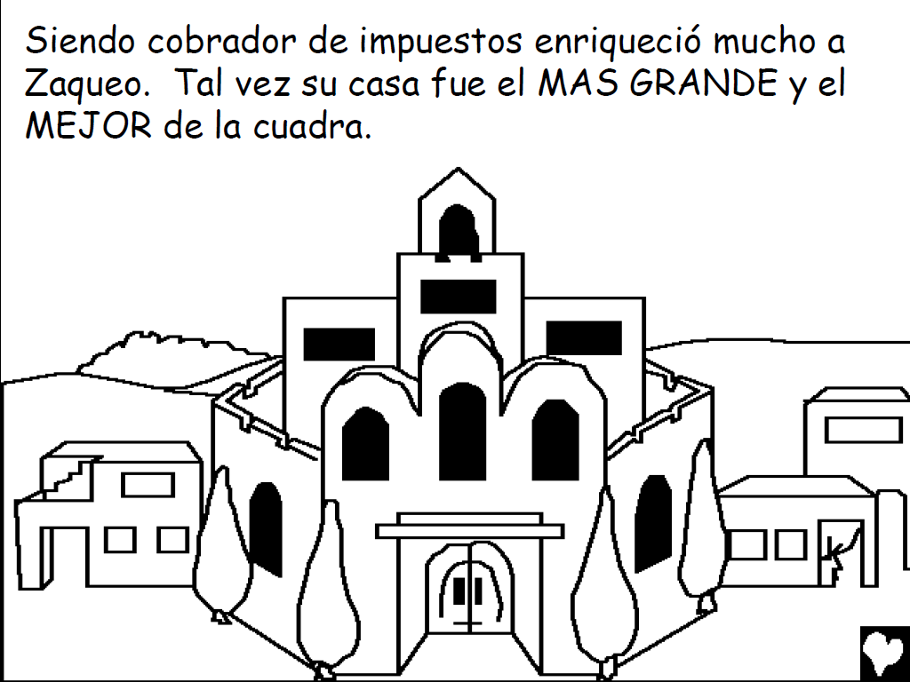 Historias Bíblicas para colorear: Historia de Jesús y Zaqueo ~ Mi ...