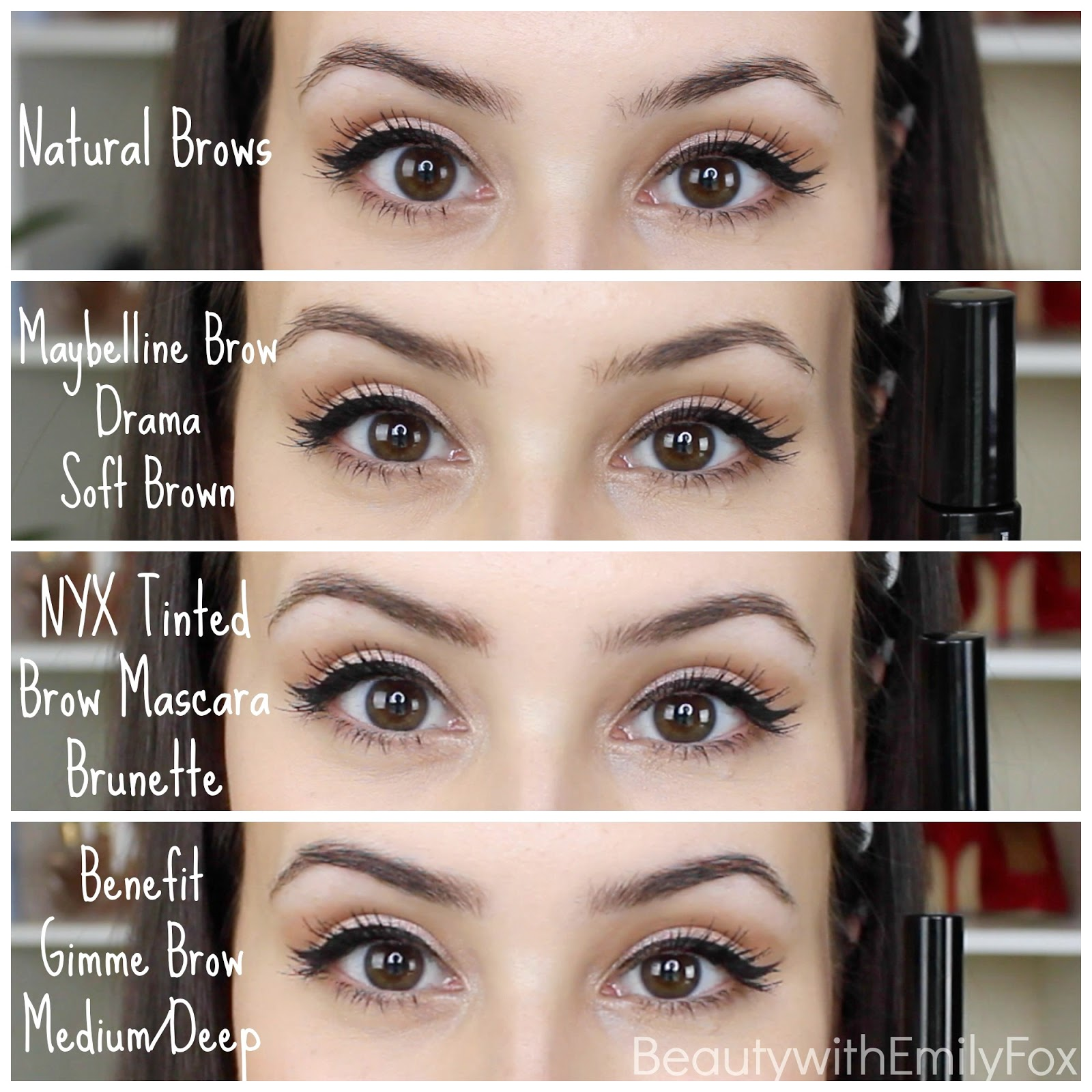 Beautywithemilyfox Best Tinted Brow Gel Nyx Maybelline Or Benefit