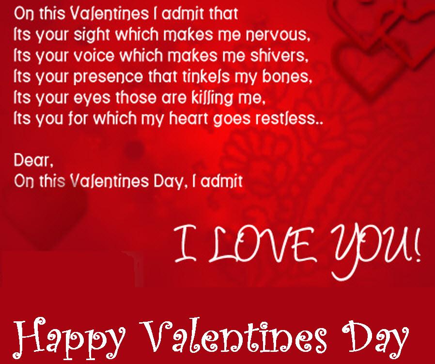 Happy Valentines Day My Love Poem – Valentines Day Card Poem