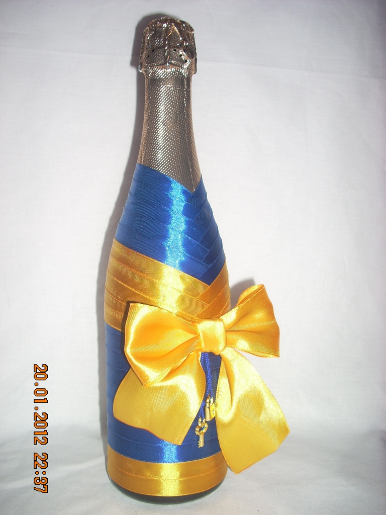 Бутылка шампанского на новый год своими руками фото - Дом и гараж