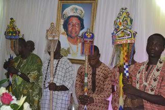 Pic of Chief Mrs HID Awolowo burial activities