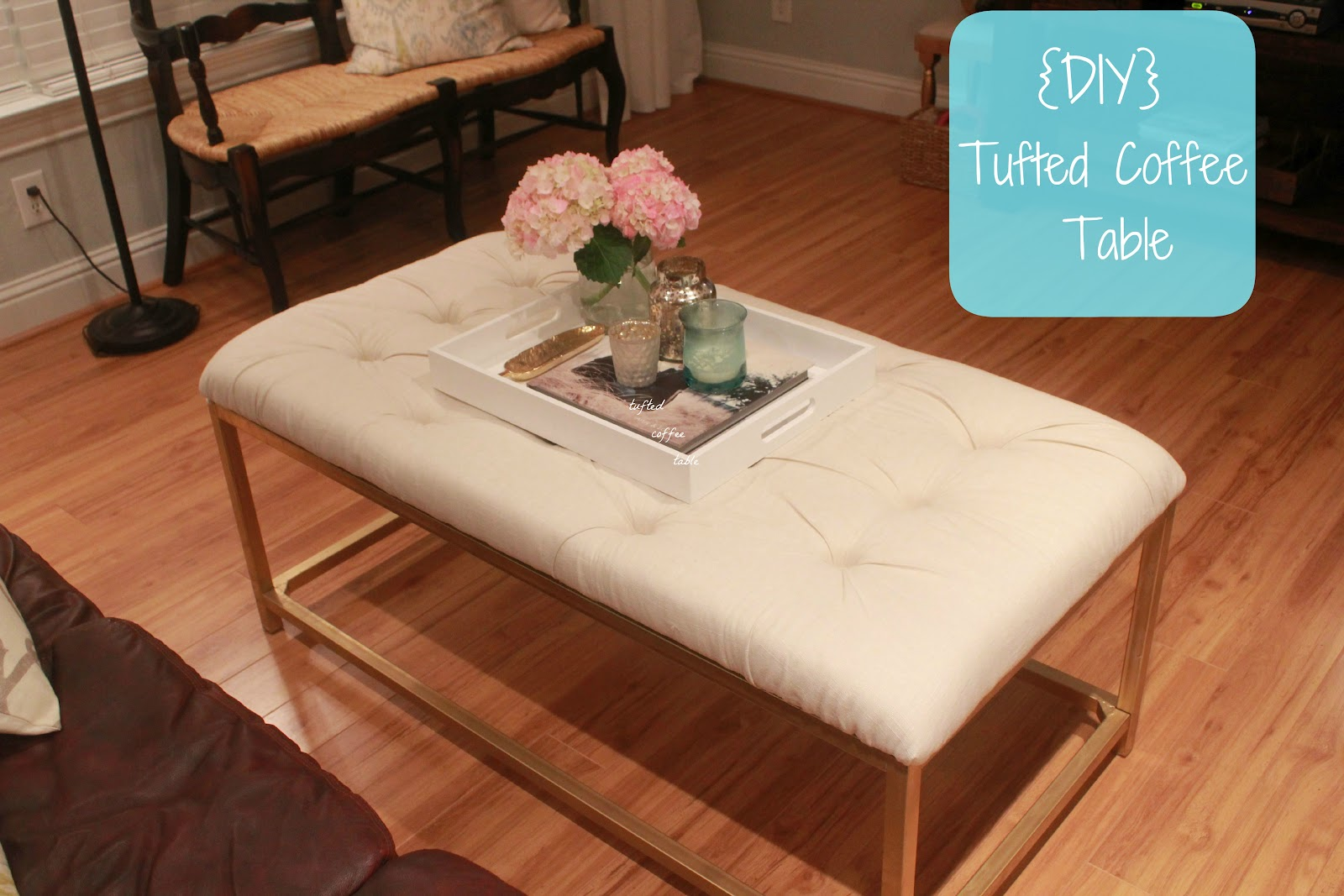 Fresh and fancy diy tufted coffee table diy tufted coffee table geotapseo Image collections