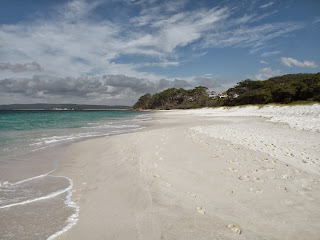 Jervis Bay's famous white sand beachers. Photograph by Janie Robinson, Travel Writer
