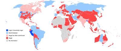 マリファナ 規制 世界 地図