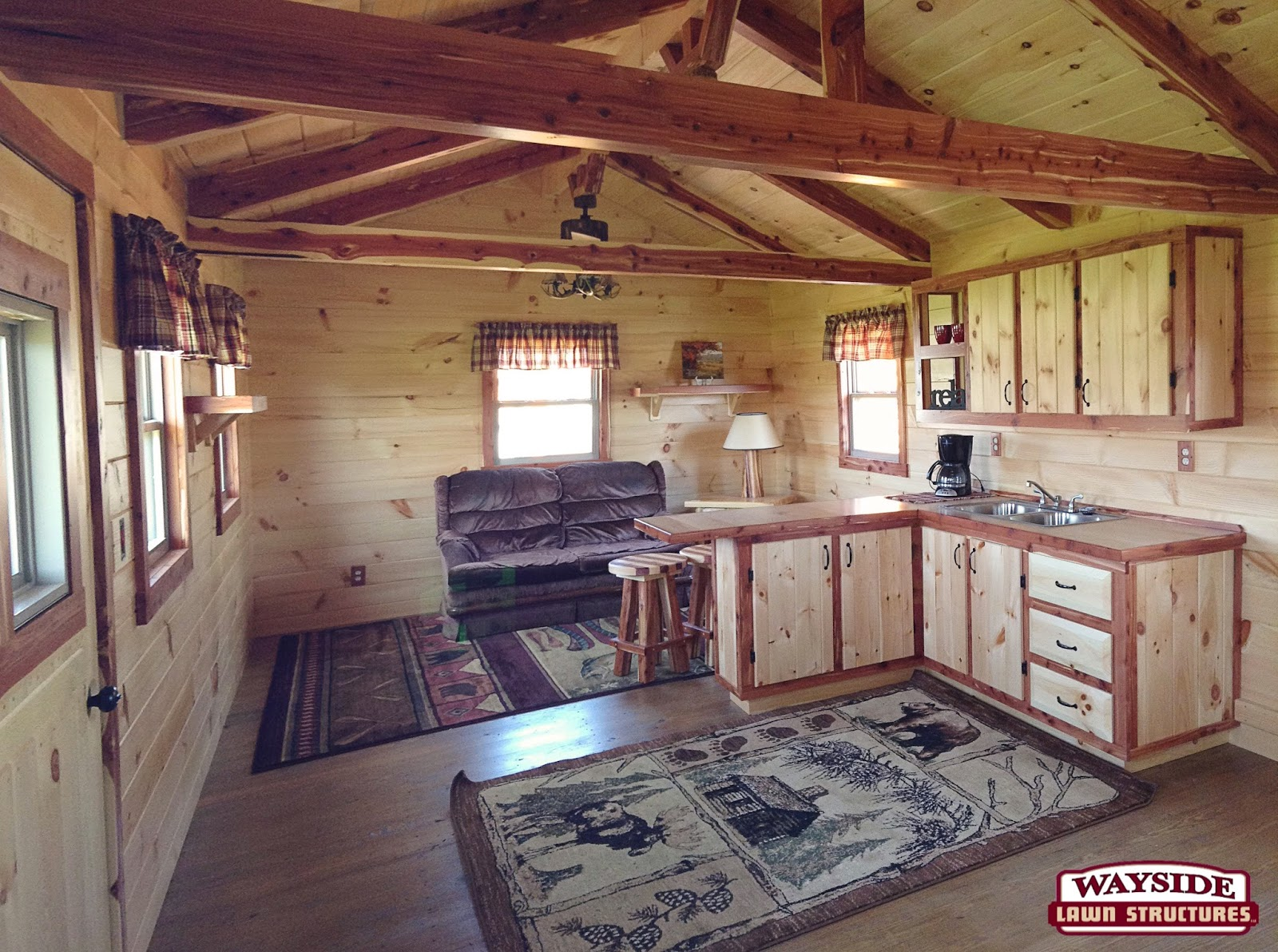Hunting cabin interior - We Have Offered Some Great Choices In Recreational Log Cabins Which Range In Size From 10 X14 To 12 X32 In Our Pre Built Portable Cabins