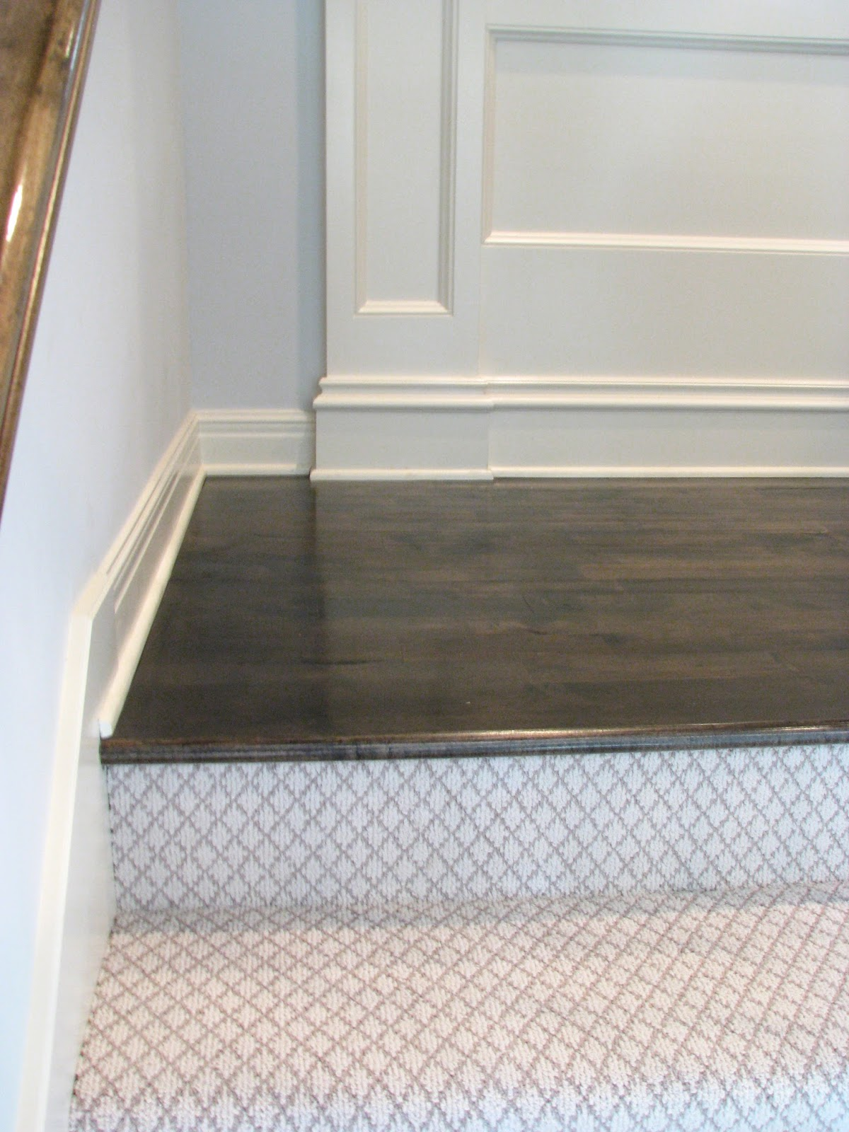 Life love larson completed hardwoods in hallway landing for Hardwood floors upstairs