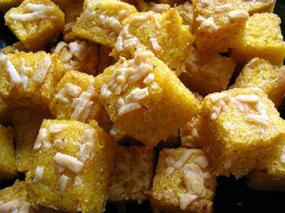 Polenta Parmesan Croutons
