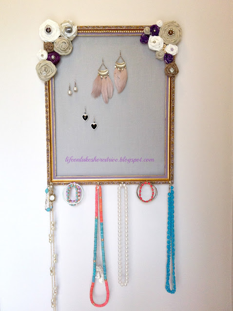 Cheap, Diy,  Tutorial  Jewelry Organizer using picture frame and screen