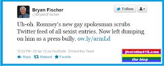 Bryan Fischer AFA Wingnut Homophobe Tweets