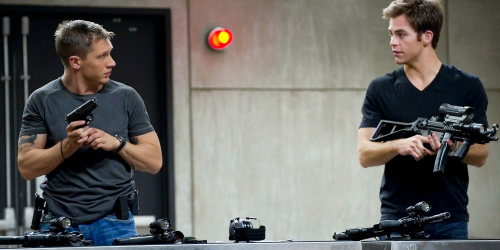 Tom Hardy e Chris Pine em GUERRA É GUERRA! (This Means War)