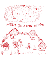 Happy Christmas card design for KES