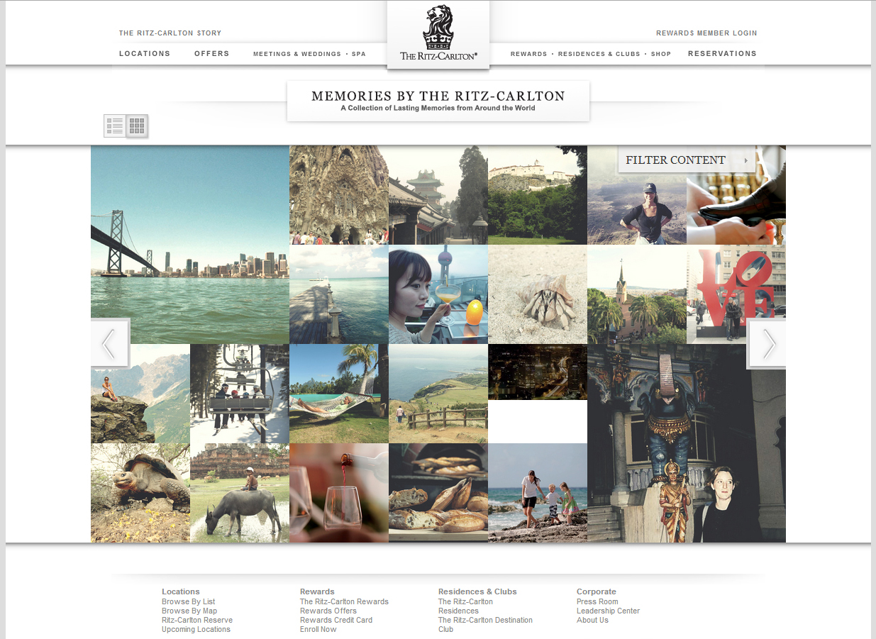 a couple of my images of san francisco can be seen in these memories segments with the ritz carlton