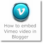 How to embed Vimeo video in Blogger