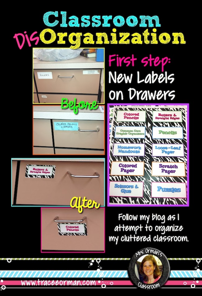 Classroom DisOrganization: Using New Uniform Labels to Organize My Work Area