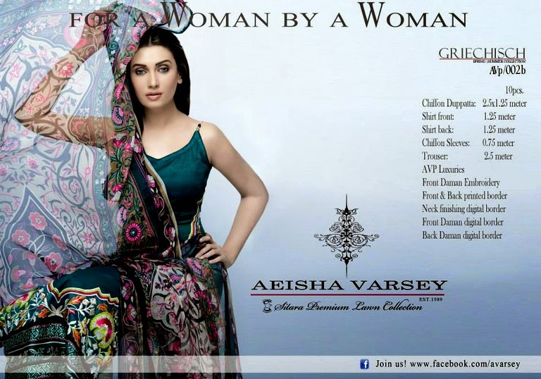 Aeisha Varsey Lawn Collection 2014