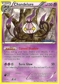 Chandelure Noble Victories Set Pokemon Card