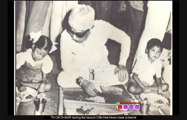 TN CM Dr. MGR During the Launch CM's free noon meal Scheme
