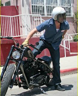 Brad Pitt with Ducati