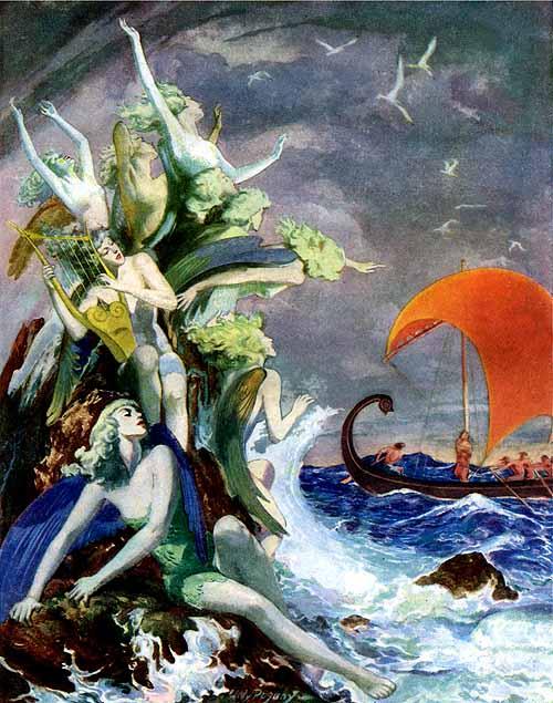 willy pogany odysseus sirens