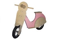 Baby scooter in legno