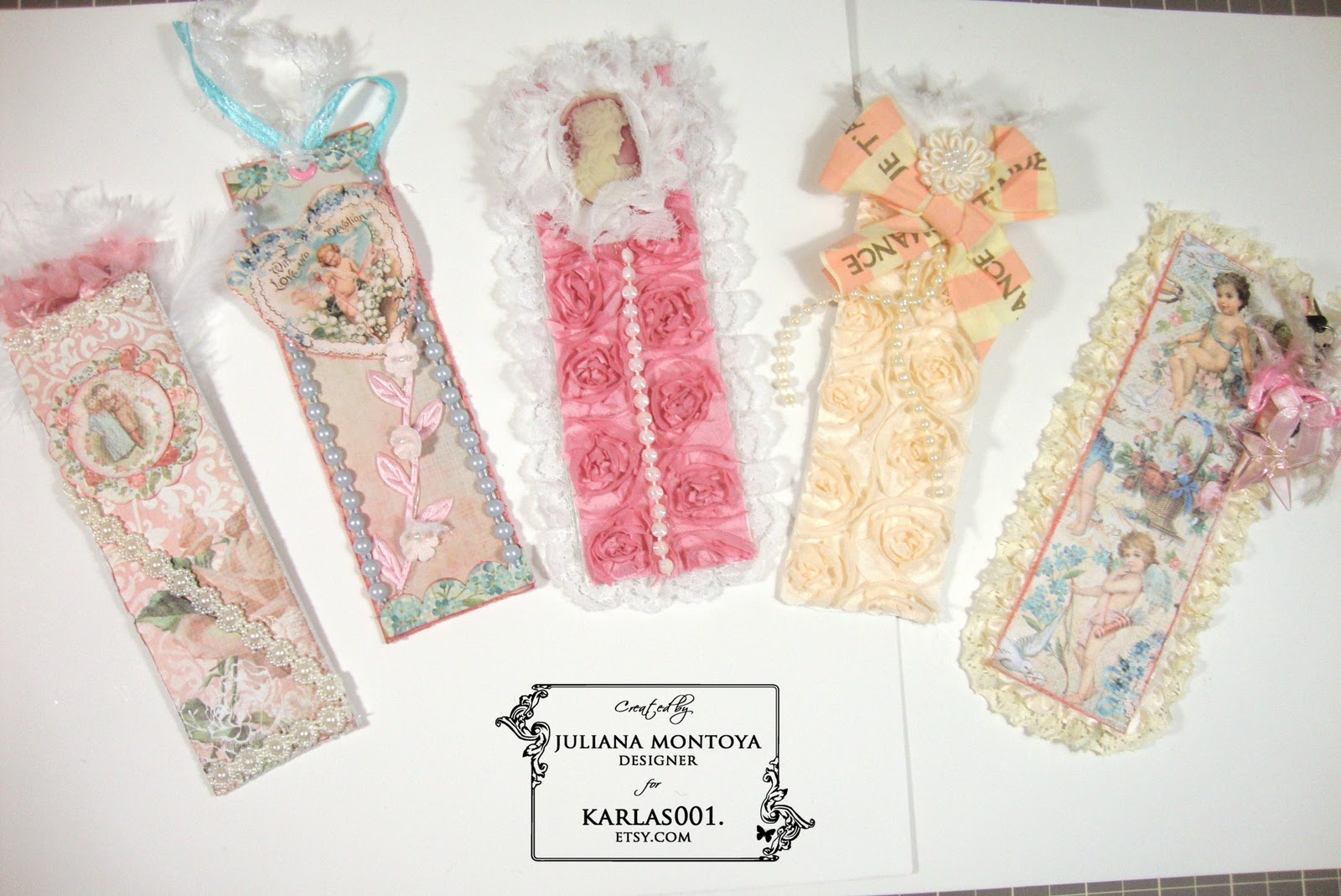 Shabby chic crafts to make - Shabby Chic Bookmarks
