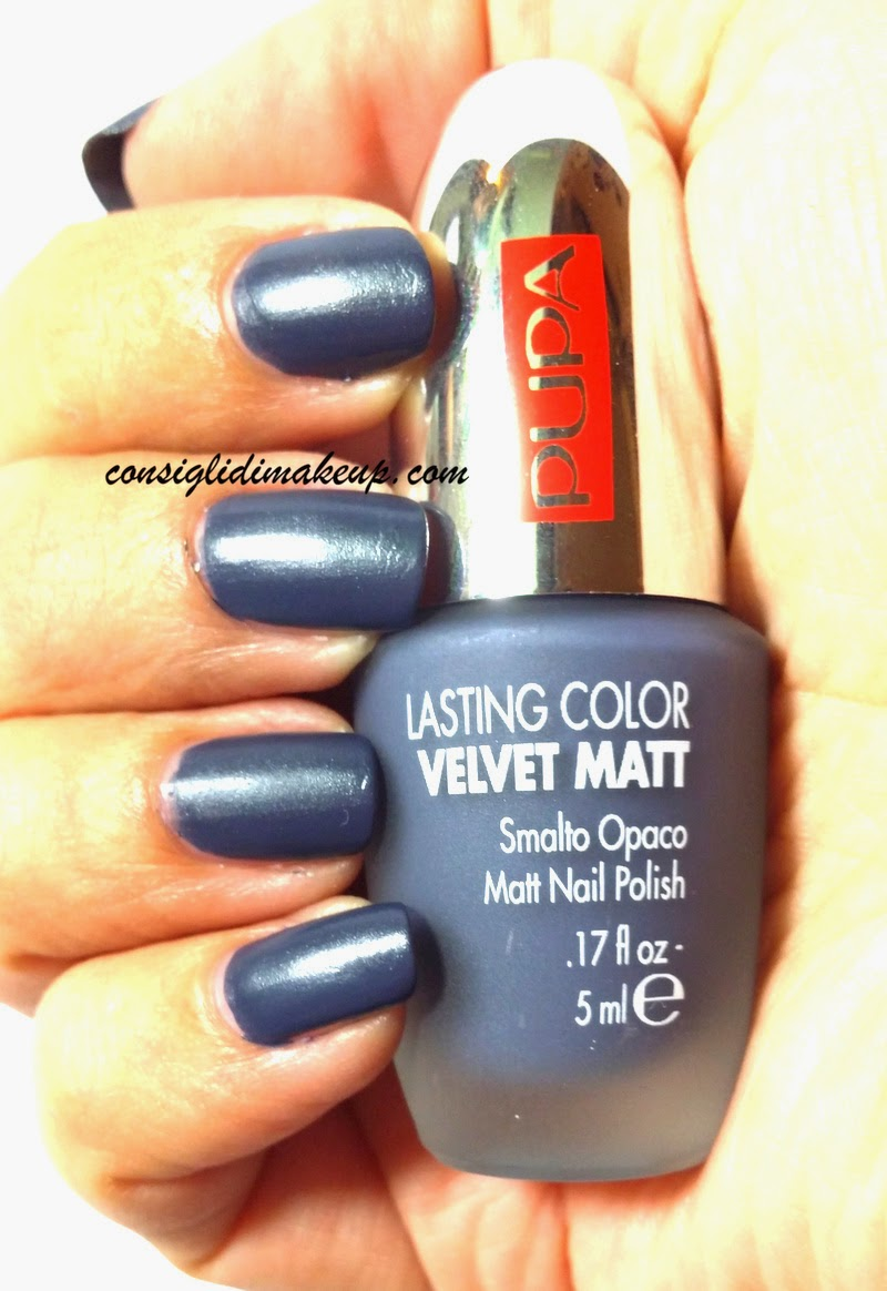 NOTD: Lasting Color Velvet Matt n. 007 Grey Blue - Pupa